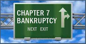 Chapter 7 Bankruptcy - can eliminate most or all of your unsecured debts